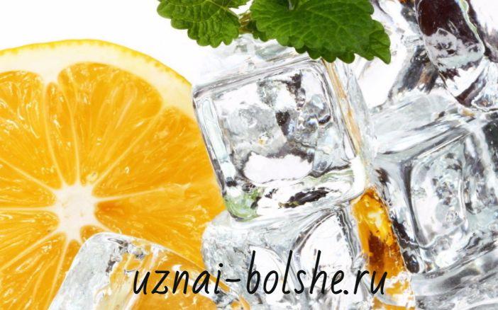 Кубики льда в косметологии и в быту